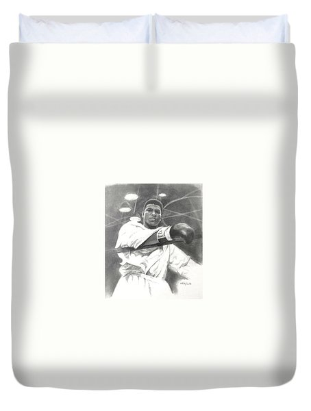 Young Cassius Clay Duvet Cover by Noe Peralez