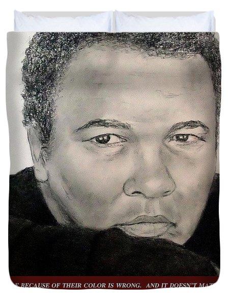 Muhammad Ali On Hating  Duvet Cover