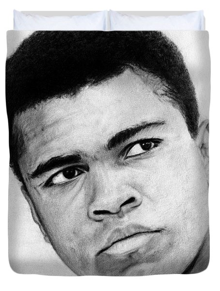 Muhammad Ali Pencil Drawing Duvet Cover