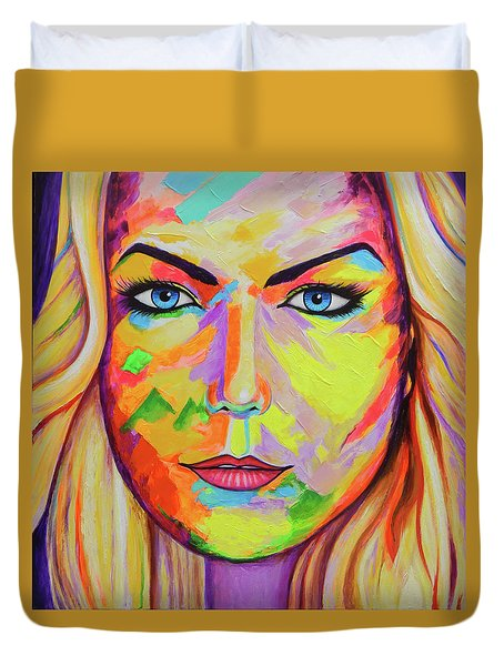 Mujer Duvet Cover by Angel Ortiz