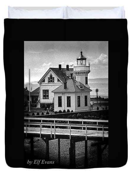 Duvet Cover featuring the photograph Mukilteo Lighthouse by Elf Evans