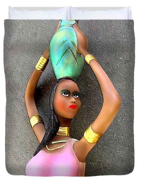 Mulatto Girl By Rafi Talby Duvet Cover by Rafi Talby