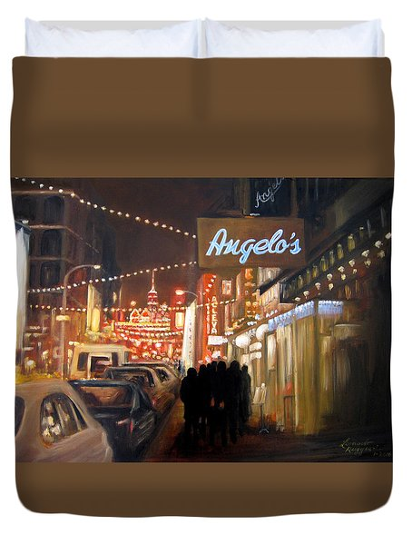Mulberry St. Nyc Duvet Cover