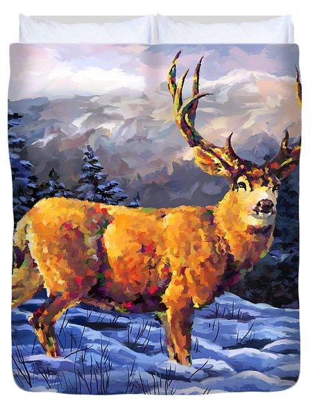 Mule Deer 2 Duvet Cover