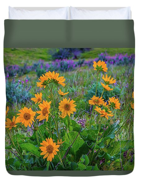 Mule's Ear And Lupine Duvet Cover