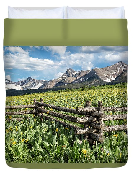 Mule's Ears And Mountains Duvet Cover