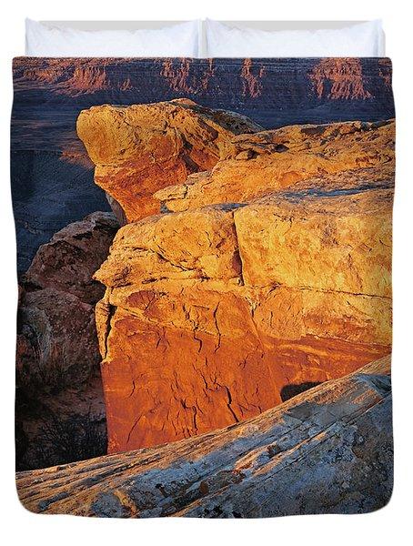 Muley Point Sunrise-v Duvet Cover