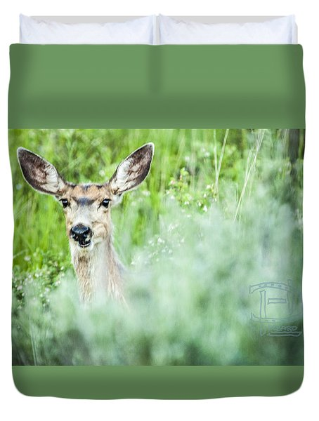 Duvet Cover featuring the photograph Muley The Mule Deer by Daniel Hebard
