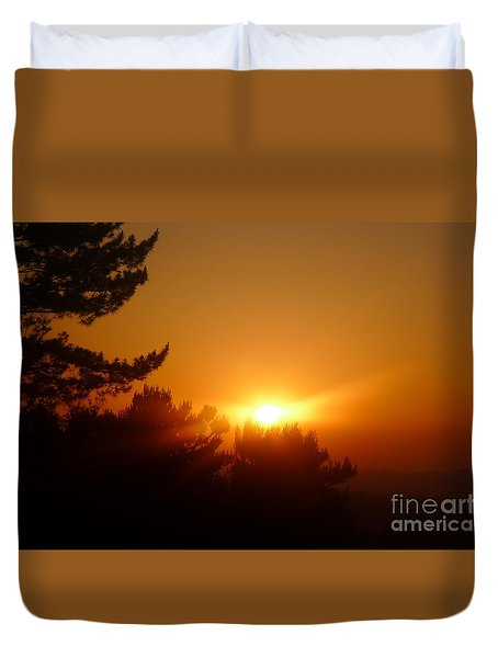 Duvet Cover featuring the photograph Mulholland  by Nora Boghossian