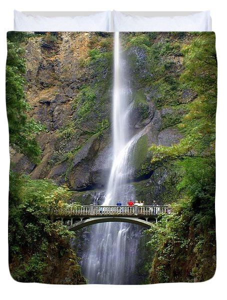 Multanomah Falls Duvet Cover by Marty Koch