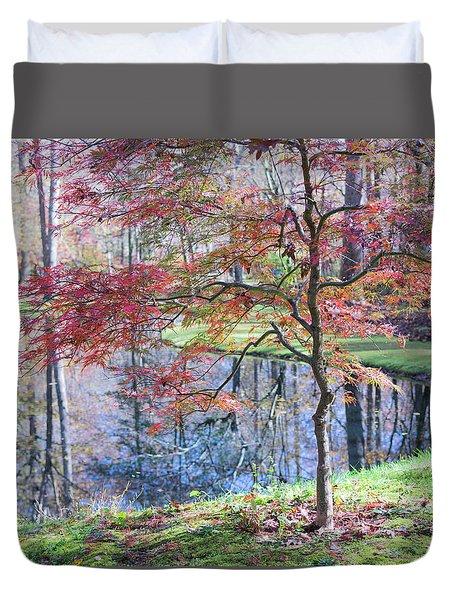 Multi Color Japanese Maple Duvet Cover
