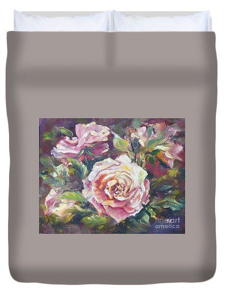 Multi-hue And Petal Rose. Duvet Cover
