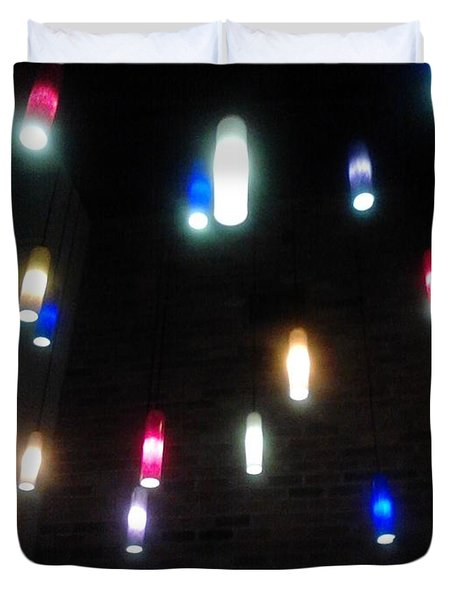 Multi Colored Lights Duvet Cover