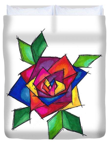 Multi Rose Duvet Cover