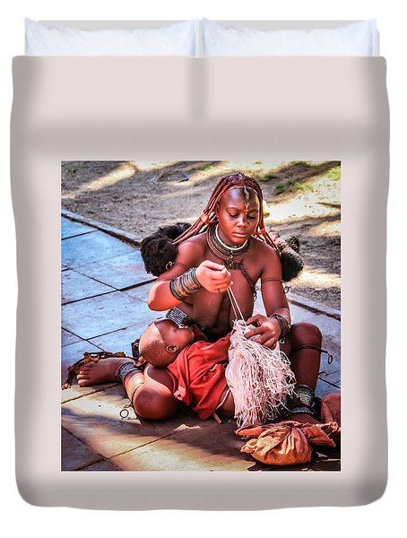 Duvet Cover featuring the photograph Multi Tasking by Gregory Daley  PPSA