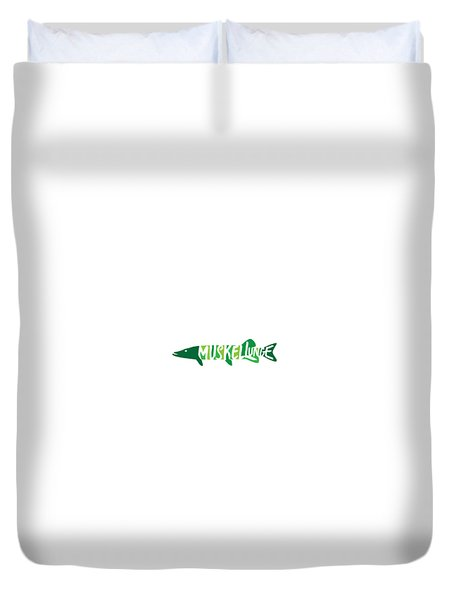 Multicolored Muskellunge Duvet Cover