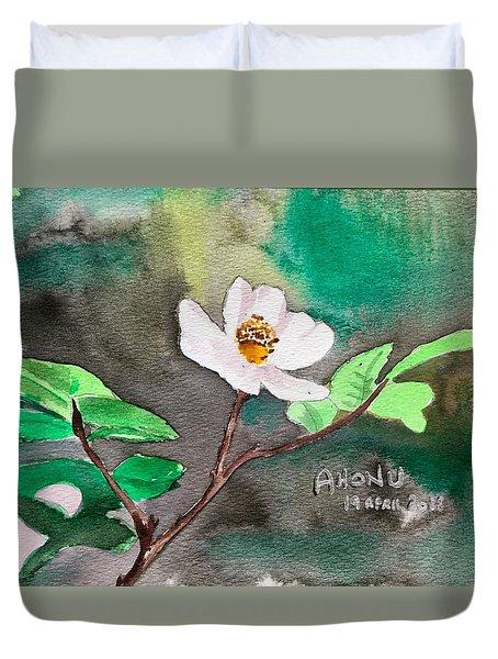 Multiflora Rosa Duvet Cover
