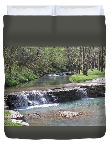 Multiple Waterfalls Duvet Cover by Julie Grace