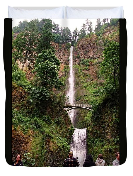 Multnomah Falls, Columbia River Gorge, Or Duvet Cover