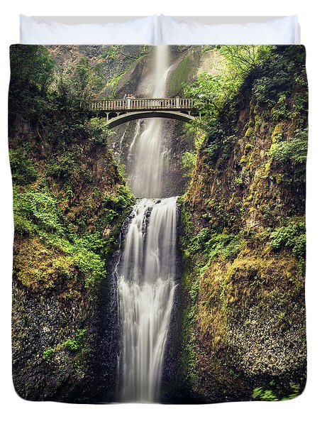 Multnomah Falls Lower Duvet Cover