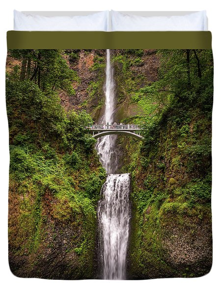 Multnomah Falls Duvet Cover by Martina Thompson