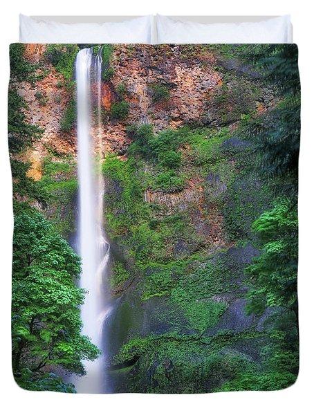 Multnomah Falls Portland Oregon Duvet Cover