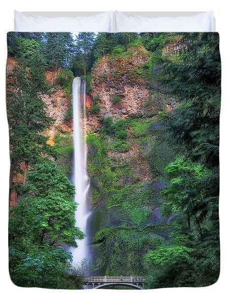 Multnomah Falls Portland Oregon Duvet Cover
