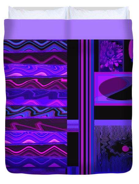 Duvet Cover featuring the photograph Mum Series - Abstract - Purple Haze by Brooks Garten Hauschild
