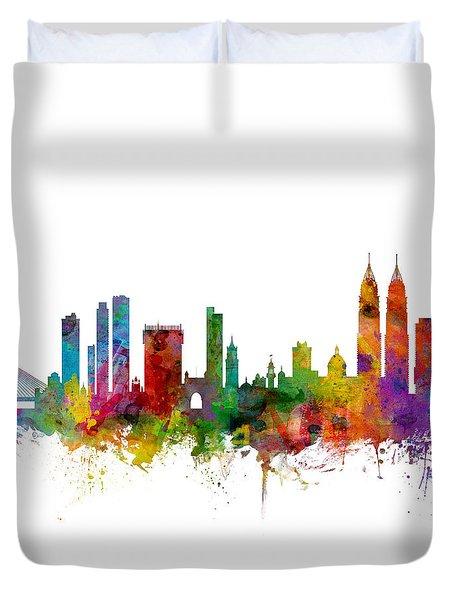 Mumbai Skyline India Bombay Duvet Cover