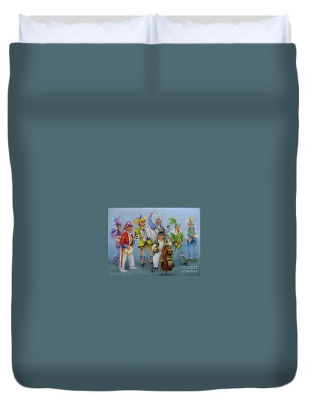 Mummers Jam Session Duvet Cover