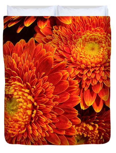 Mums In Flames Duvet Cover