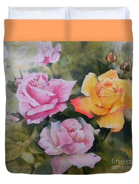 Mum's Roses Duvet Cover by Sandra Phryce-Jones