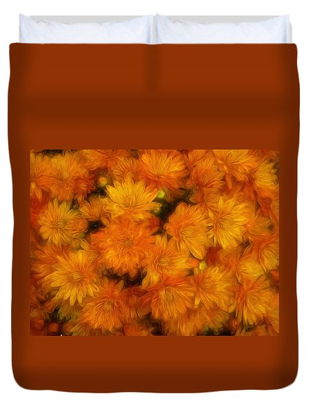 Mums The Word Duvet Cover by Andrea Kollo