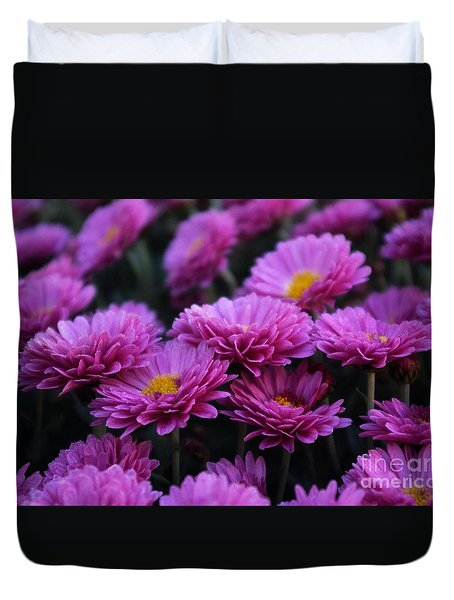 Duvet Cover featuring the photograph Mums The Word by John S