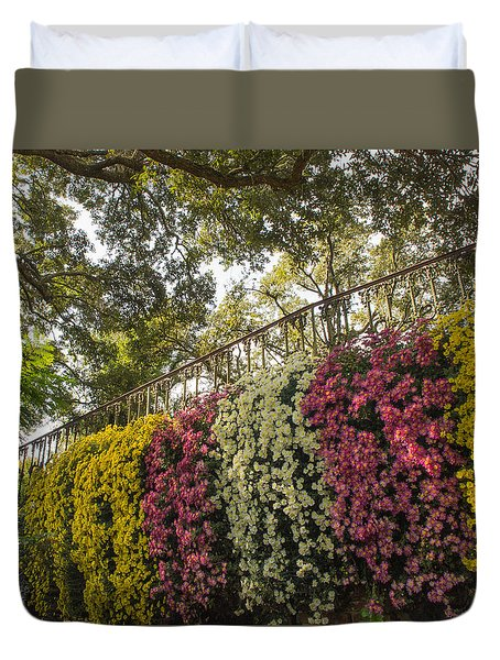 Duvet Cover featuring the photograph Mum's The Word by Julie Andel
