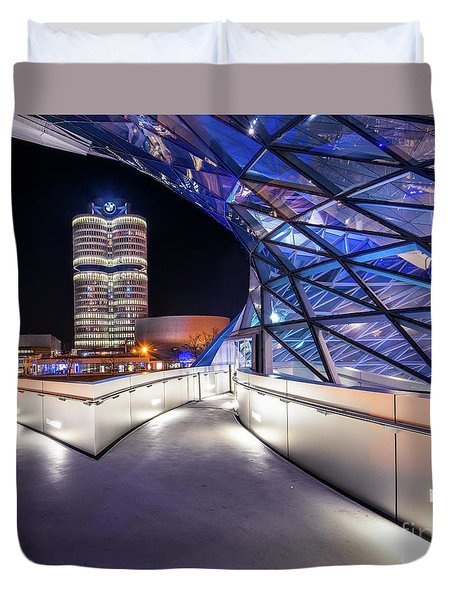 Duvet Cover featuring the pyrography Munich - Bwm Modern And Futuristic by Hannes Cmarits