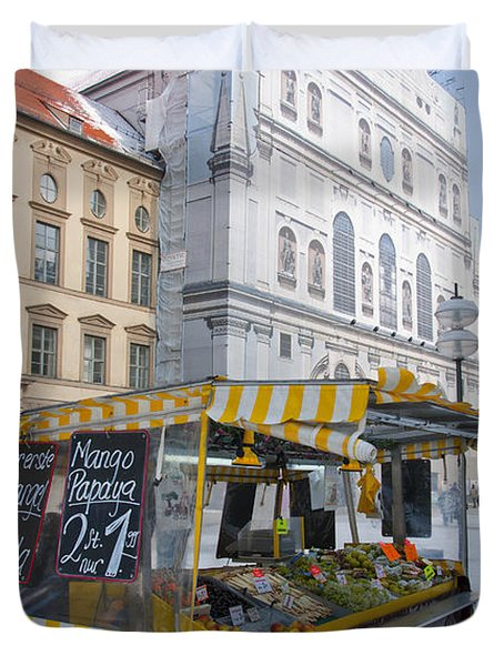 Munich Fruit Seller Duvet Cover