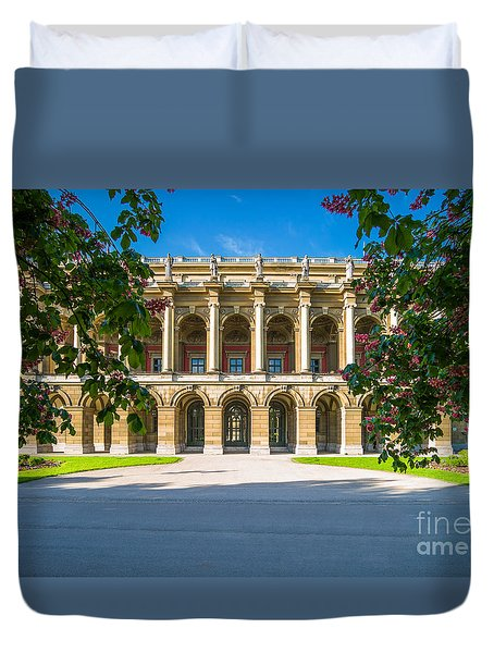 Duvet Cover featuring the photograph Munich Impression 4 by Juergen Klust