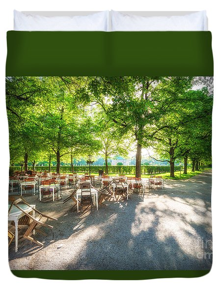 Duvet Cover featuring the photograph Munich Spring Impression by Juergen Klust