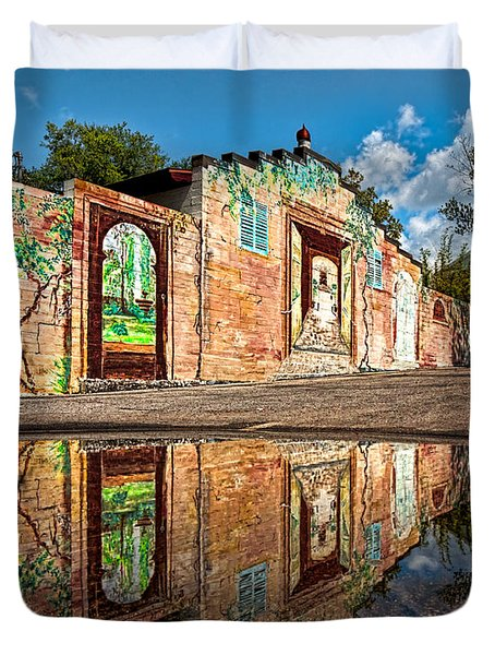 Mural Reflected Duvet Cover by Christopher Holmes