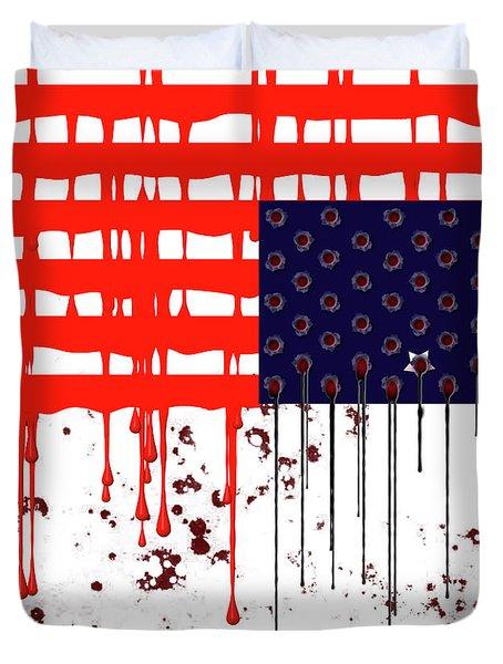 America In Distress Duvet Cover