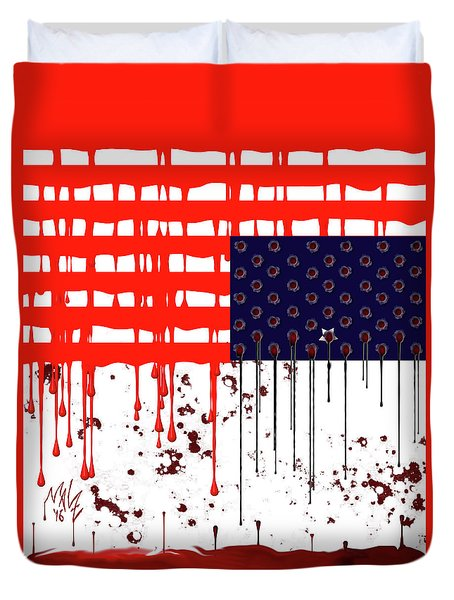 America In Distress Duvet Cover