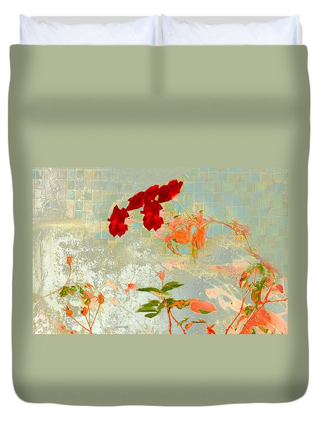 Muro Viejo Duvet Cover by Alfonso Garcia