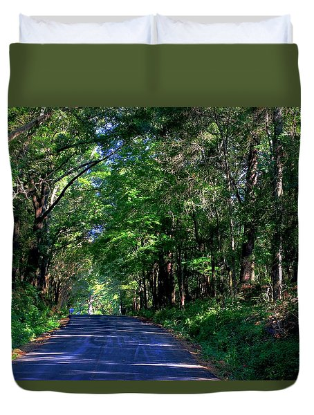 Duvet Cover featuring the photograph Murphy Mill Road - 2 by Jerry Battle