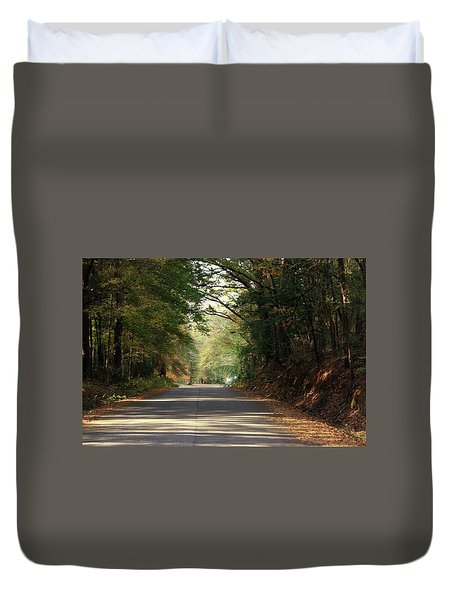 Duvet Cover featuring the photograph Murphy Mill Road by Jerry Battle