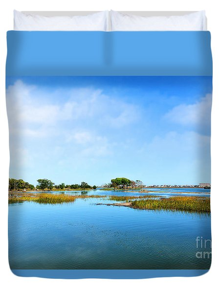 Murrells Inlet Duvet Cover by Kathy Baccari