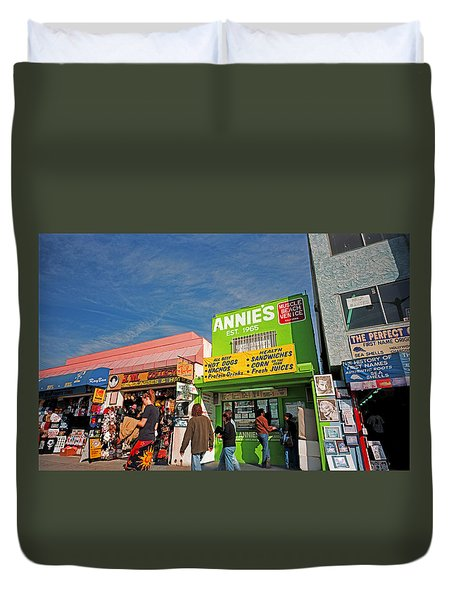 Muscle Beach Duvet Cover
