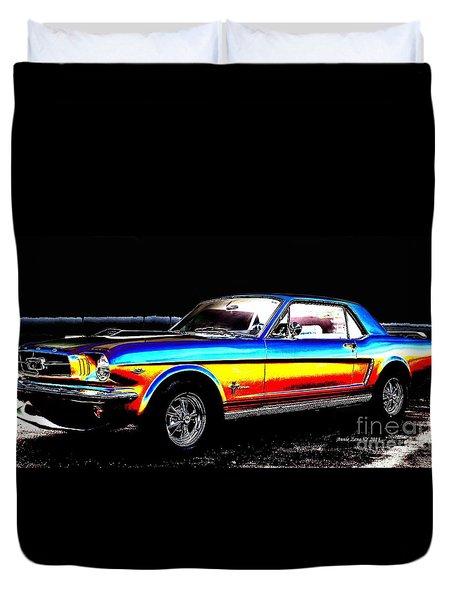 Muscle Car Mustang Duvet Cover
