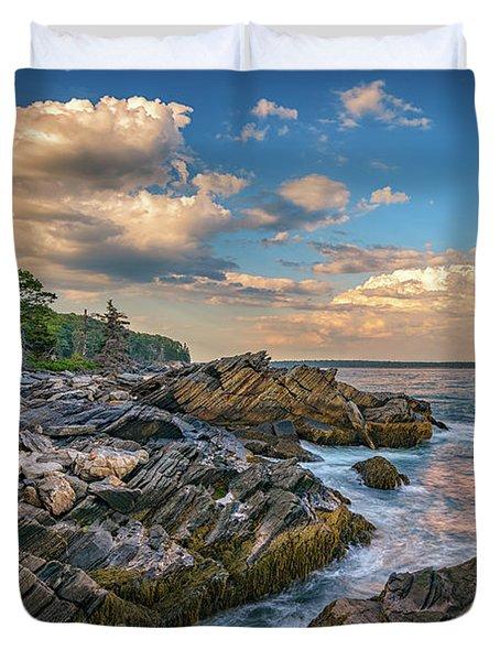 Muscongus Bay Duvet Cover by Rick Berk