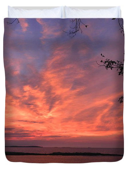 Muscongus Sound Sunrise Duvet Cover